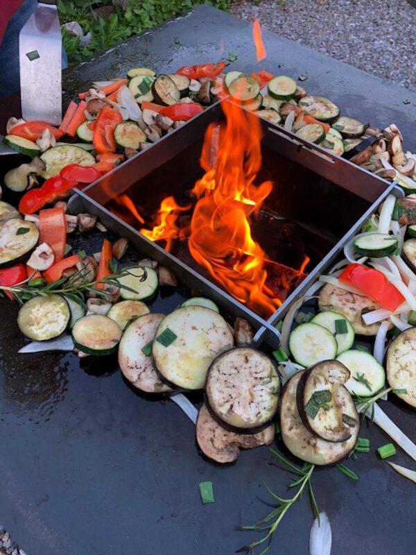 Plancha-Grill Gemüse