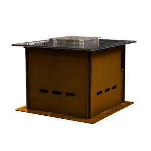 Plancha-Grill mini cortenstahl